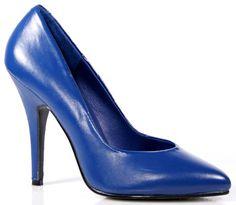 Pleaser Shoes Seduce-420 Blue Leather