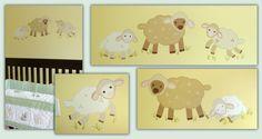 cute lamb mural