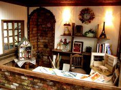 Casa de muñecas taller pasado ♪ imagen casa de muñecas en miniatura | miniatura bambini Doll House Interior de la habitación