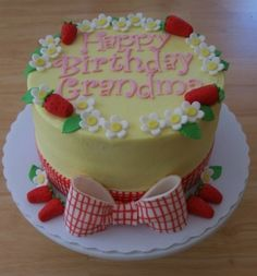 gingham ribbon & strawberries