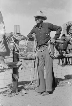 Rodeo Cowboy Russell Lee at a rodeo in Quemado, NM, 1939.  #quemado #quemadonm #quemadonewmexico #rodeo #newmexico #oldnewmexico