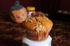 Pumpkin Speculoos Oaty Crumble Muffins | Riverside Baking (Biscoff / Lotus Biscuit Spread)