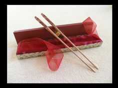 Handmade Wedding Chopsticks by PraeclarusWands.deviantart.com on @deviantART