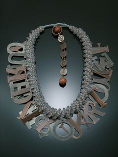 'If You Can Read This You're Too Close - Found Object Art Jewelry by Alice Sprintzen - The Beading Gem's Journal