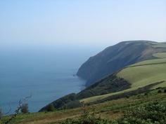 The North Devon coast seen from Exmoor