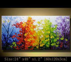 Original Abstract Painting Modern Textured von xiangwuchen auf Etsy