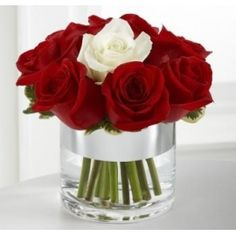 Send the pure bouquet of flowers from Flush Floral in Daly City, CA. Local fresh flower delivery directly from the florist and never in a box! White Wedding Arrangements, Red Rose Arrangements, Flower Arrangement Designs, Unique Flower Arrangements, Christmas Arrangements, Sunflower Wedding Decorations, Wedding Flowers, Red Wedding, Wedding Ideas