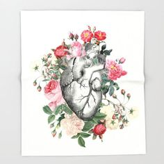 Heart Blanket Roses for her Heart by ArtfullyFeathered on Etsy