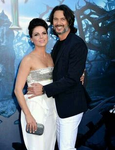 Lana Parrilla & Fred DiBlasio - how  cute a couple!
