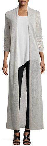 Eileen Fisher Washable Merino Wool Maxi Cardigan is the hottest thing this season.