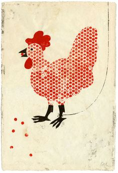 lentonnoire:    (via Edel Rodriguez Works on Paper 2 Shelter)    i cannot wait to get a chicken coop