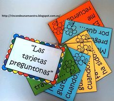 Rincón de una maestra: Las tarjetas preguntonas Preschool Education, Teaching Resources, Spanish Posters, Kids Book Club, Montessori, Teachers Corner, Fun Games For Kids, Speech Language Therapy, Readers Workshop