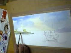 ▶ easy watercolour demonstration low tide - YouTube