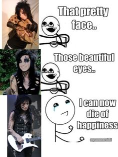 I have an obsession wif Jake <<< I have an obsession with BVB Black Viel Brides, Black Veil Brides Andy, Emo Bands, Music Bands, Rock Bands, We Are The Fallen, Bvb Fan, Jake Pitts, Andy Black