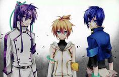 Gakupo,Len, and Kaito