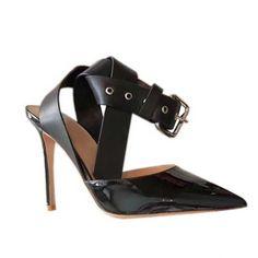 01e8ef5483b  jessicabuurman :CONRA Ankle Strap Patent Leather Sandals - 10cm. Shop   jessicabuurman