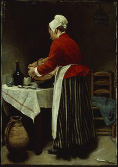 François Bonvin  French, 1817-1887  The Maid, c. 1875