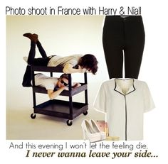"""""""Photo shoot in France with Harry & Niall"""" by itsrockyedwardstyles ❤ liked on Polyvore featuring Topshop, River Island, Mura, tarte and Liz Claiborne"""