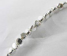 40 of Karen Hill Tribe Silver Facet Beads 3x2.5 mm. :ka3111