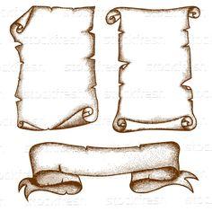 Três · isolado · branco · pergaminho · etiqueta - ilustração de vetor © Yulia Buchatskaya (unweit) (#4162965) | Stockfresh