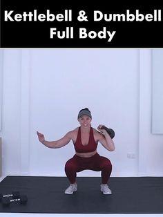 Kettlebell Workout Routines, Full Body Workout Routine, Dumbbell Workout, Kettlebell Weights, Body Fitness, Fitness Tips, Kettlebells, Strength Workout, Strength Training
