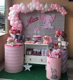 Phenomenal inspiring ideas to have a look at #babyshowerdiy Baby Girl Shower Themes, Baby Shower Decorations For Boys, Baby Shower Parties, Baby Boy Shower, Decoracion Baby Shower Niña, Deco Buffet, Baby Shawer, Elephant Theme, Elephant Baby Showers