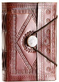 Embossed leather blank book w/ elastic [BBBEEMBM] - $17.00 : Wicca, Pagan and Occult Practice Mega Store - www.thetarotoracle.com
