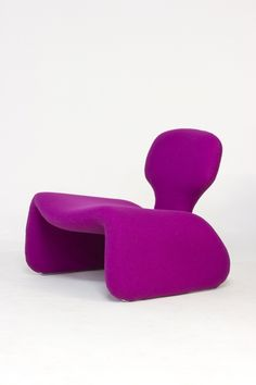 Olivier Mourgue, Djinn chair, 1965, Airborne International | purple furniture design