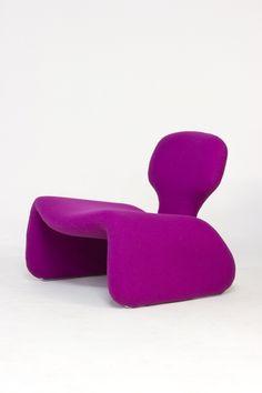 Olivier Mourgue, Djinn chair, 1965, Airborne International | purple furniture design