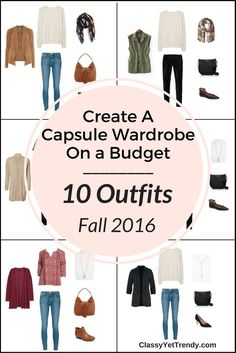 Create a Capsule Wardrobe On a Budget: 10 Fall Outfits - featuring a chambray…