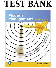 This is the complete Modern Management Concepts and Skills Edition Solutions Manual by Certo . All chapters are included and complete with all questions and answers. Human Resources, Teaching Resources, Book Activities, Creativity And Innovation, Strategic Planning, Good Grades, Decision Making, Leadership, Manual