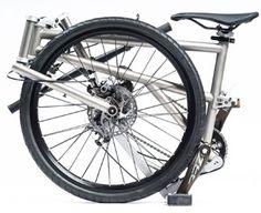 Helix titanium folding bike with option for IGH, has mechanical disc brakes. $1500 8 gear, $1700 11 gear alfine