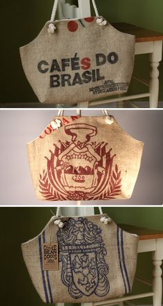 Black Friday Sale! Recycled Coffee Bean Sack Totes - Handmade in the Heartland