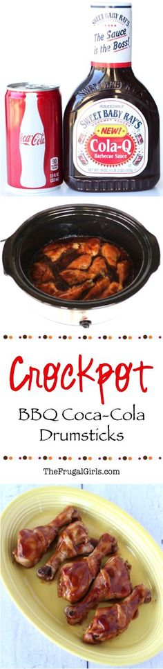 Crockpot BBQ Coca Cola Chicken Drumsticks Recipe! ~ from TheFrugalGirls.com ~ such a delicious Slow Cooker twist to an easy family favorite!  Both kids and adults will LOVE this for dinner!