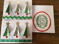 Christmas trees folded