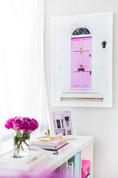 Office Artwork Pink Door Print | London Collection by Annawithlove Photography