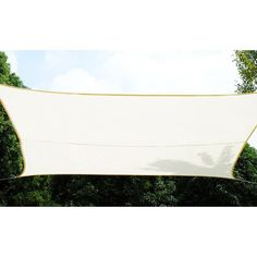 Toile solaire / Voile d'ombrage Curacao - 3 x 4 m. - Blanc HESPERIDE