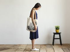 Perfect gift for vintage lovers. Canvas Bags – Vintage Printed Canvas Shoulder Bag – a unique product by youzi via en.DaWanda.com