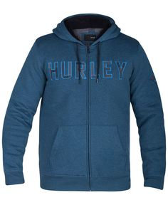 Relax in the style of Hurley's classic graphic-print hoodie, featuring a convenient zip-up design and kangaroo pocket at the front. | Cotton | Machine | Imported | Attached hood with drawstrings  | Fr