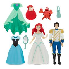 The Little Mermaid Deluxe Figure Fashion Set ($20 at DisneyStore.com) - Made especially for Walt Disney World and Disneyland, this set includes Ariel, Prince Eric and Sebastian figures. Includes two additional dresses, mirror, purse and interchangeable Ariel head with different hairstyle. The figures are up to 3.75'' high.