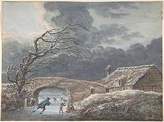 Vincent Jansz. van der Vinne (Dutch, 1736–1811). Winter Landscape with Skaters on a Frozen Canal.  The Metropolitan Museum of Art, New York