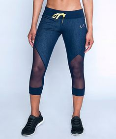 This Indigo Motion Capri Leggings by TLF Apparel is perfect! #zulilyfinds