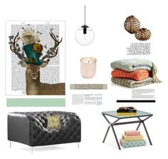 """""""In the comfort of your home"""" by natasha-r-catz ❤ liked on Polyvore featuring interior, interiors, interior design, home, home decor, interior decorating, FabFunky, Kennebunk Home, Pillow Decor and Dot & Bo"""