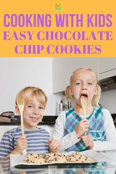 Cooking with kids, easy chocolate chip cookies. Cchocolate chip cookies easy, chocolate chip cookie bars, chocolate chip cookies chewy, chocolate chip cookies recipe, Chocolate Chip Cookies, Chocolate…More