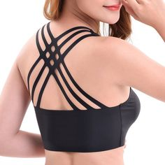 f9b1ce6906c Sexy silk seamless back criss-cross breathable yoga wrapped chest bra bra  fashion vocabulary