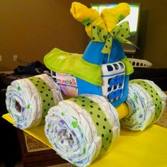 Four-wheeler diaper cake!!