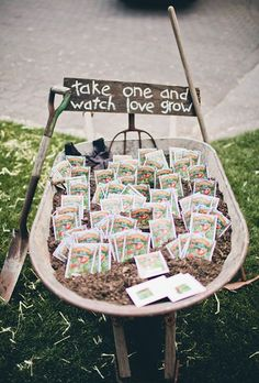 http://Brides.com: . Garden enthusiasts and nature-loving couples alike will love gifting these seed packet wedding favors.