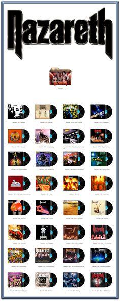 Album Art Icons: Nazareth Discography Icons (ICO & PNG)
