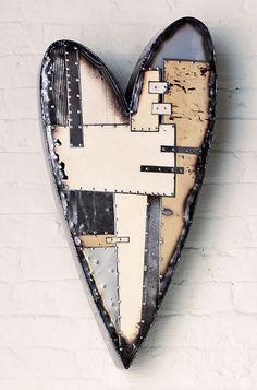 metal heart wall art | Classic Heart: Anthony Hansen: Metal Wall Art - Artful Home