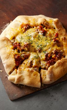 Beef & Cheese Foldover — All-purpose baking mix makes a quick and easy crust for this cheesy ground beef mixture.